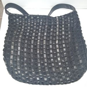 Banana republic woven leather purse